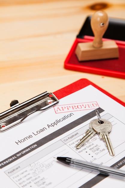 Home loan application form Premium Photo