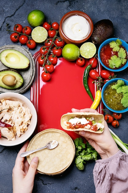 Home made tortillas Premium Photo