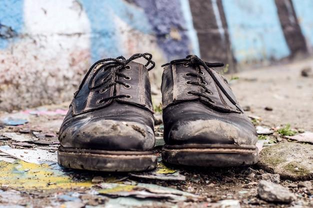 Homeless man shoes Premium Photo