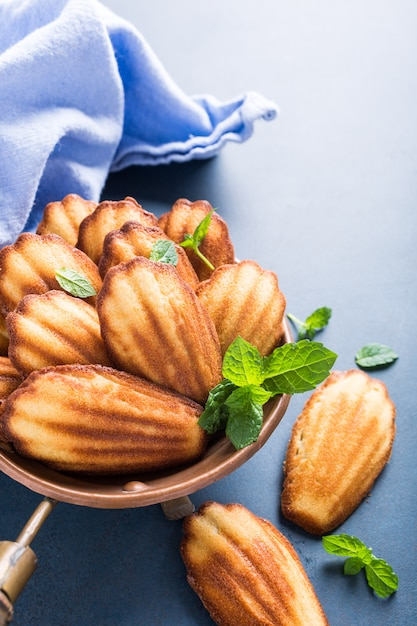 Homemade anise cookies madeleine Premium Photo