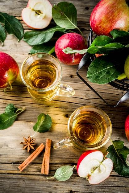Homemade apple cider Premium Photo