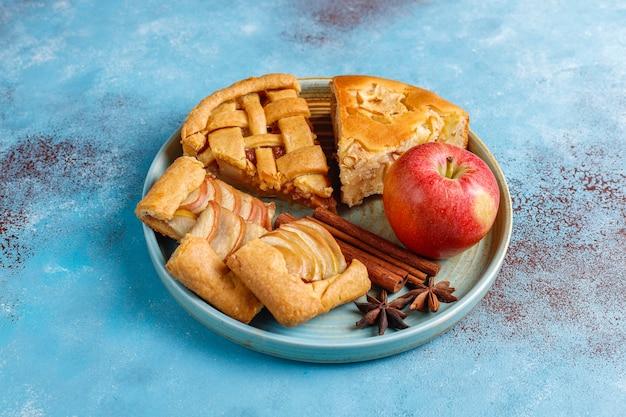 自家製アップルパイ、ケーキ、ガレット。 無料写真