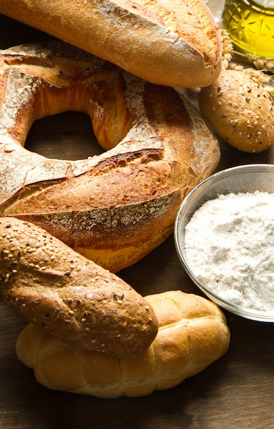 Homemade bread Premium Photo