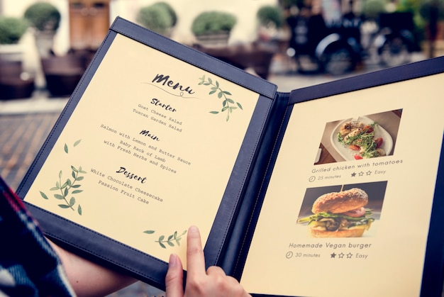 Homemade food menu recipe recommended restaurant Free Photo
