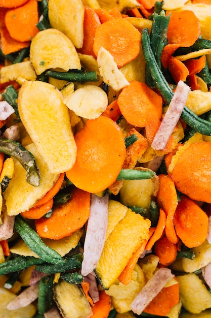 Homemade marinated mixed vegetables slices Free Photo