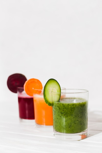 Homemade vegetable smoothies Free Photo