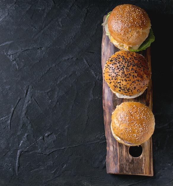 Homemade veggie burger Premium Photo
