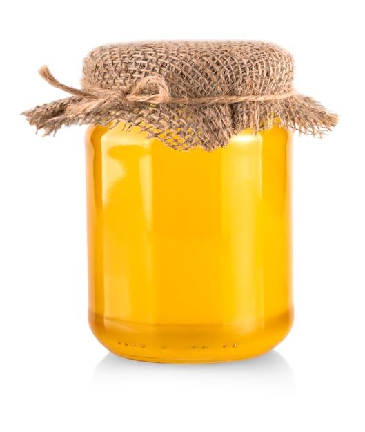 Honey bank isolated on white background Premium Photo