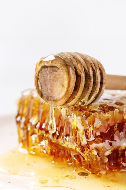 Honey in honeycombs Premium Photo