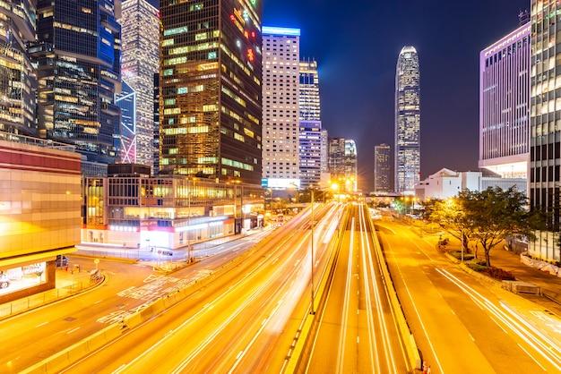 Hong kong cityscape Premium Photo