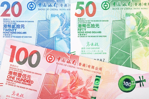Hong kong dollar banknotes Premium Photo