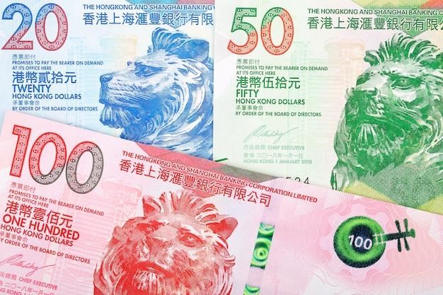 Hong kong dollar banknotes Premium Photo