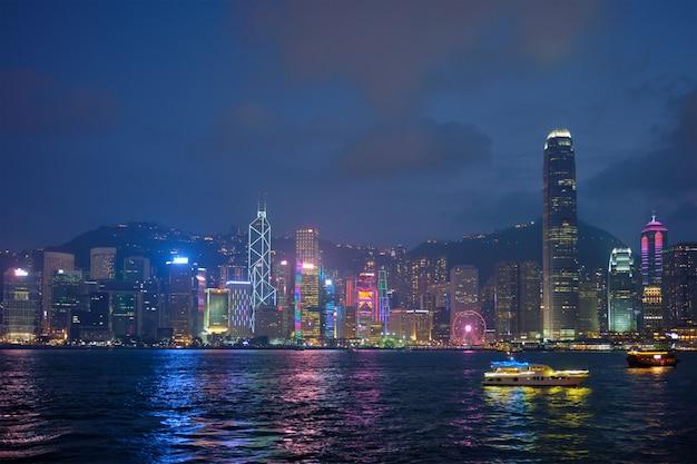 Hong kong skyline. hong kong, china Premium Photo