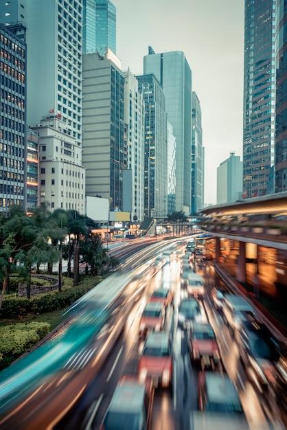 Hong Kong traffic view Free Photo