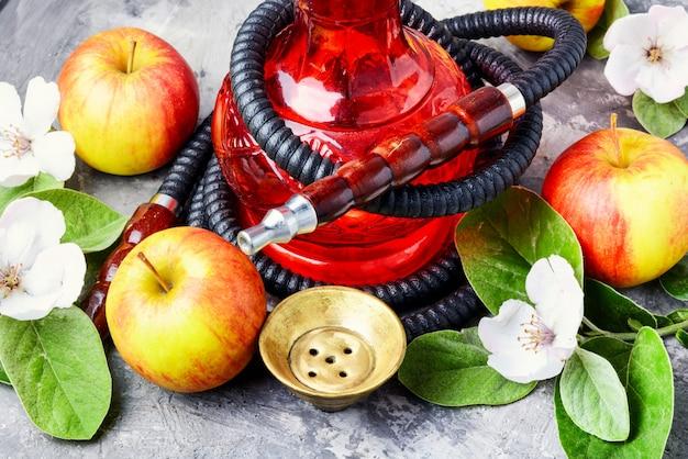 Hookah with apple Premium Photo