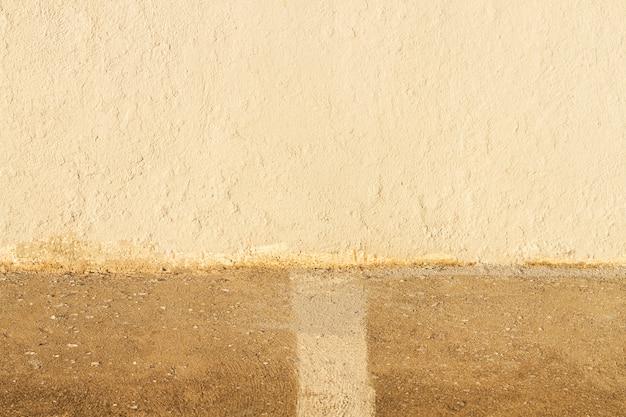 水平抽象的なセメント道路の背景 Premium写真