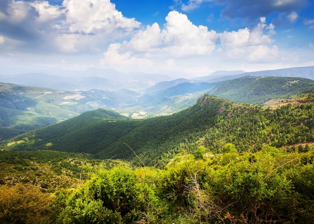 Horizontal mountains landscape  Free Photo