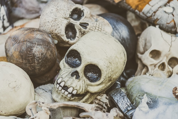 horror skulls vintage model abstract Free Photo
