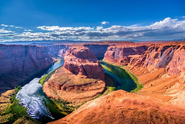 Horseshoe bendpage, arizona, grandcanyon,united states of america Premium Photo