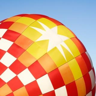 Hot air balloon close up  rectangular Free Photo