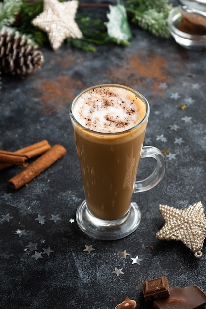 Hot chocolate drink Premium Photo