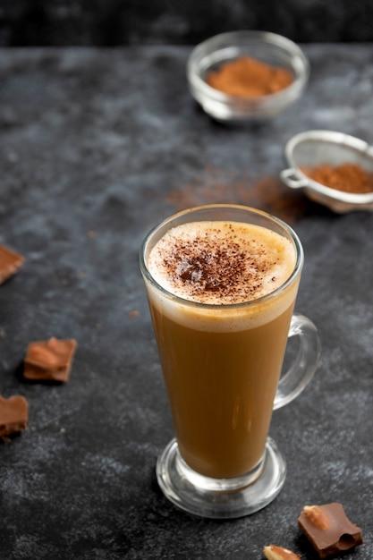 Hot chocolate drink Premium Photo