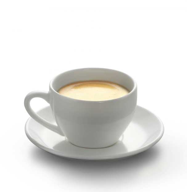 Hot coffee on the table Premium Photo