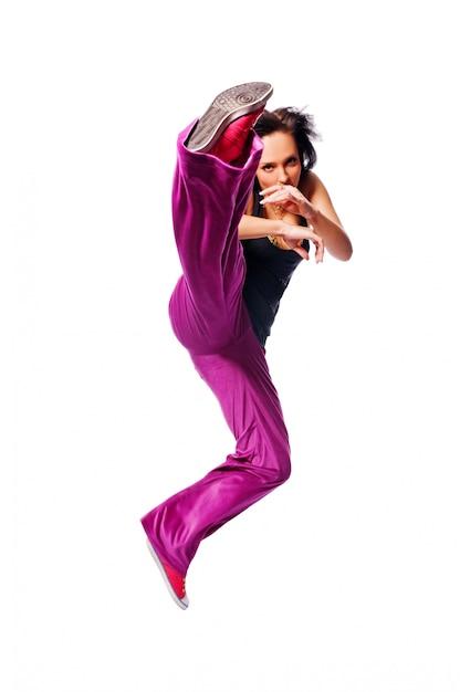 Hot dancer jumping Free Photo
