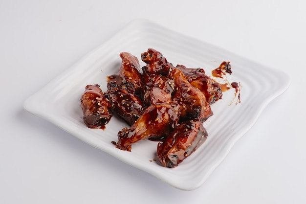 Hot spicy fried chicken wings Premium Photo