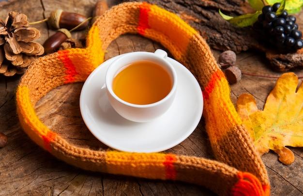 с чашкой горячего чая