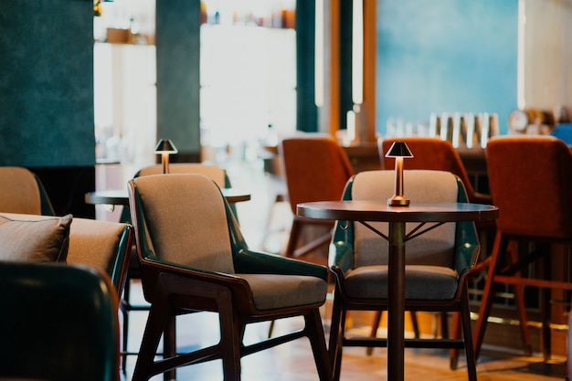 Hotel dining room with confortable chairs Free Photo