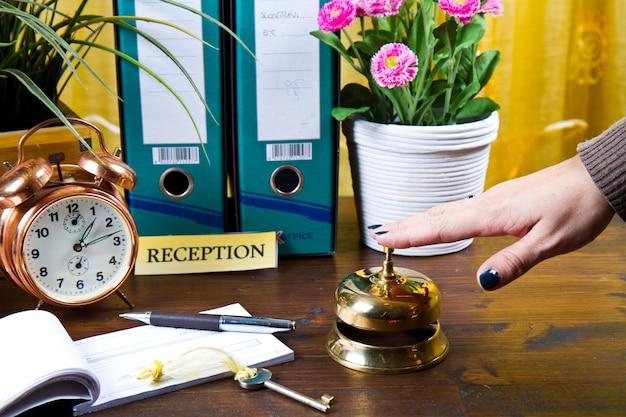 Hotel reception desk Premium Photo
