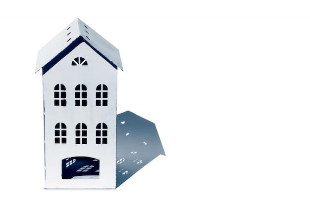 Концепция дома с копией пространства для текста. реальное состояние Premium Фотографии