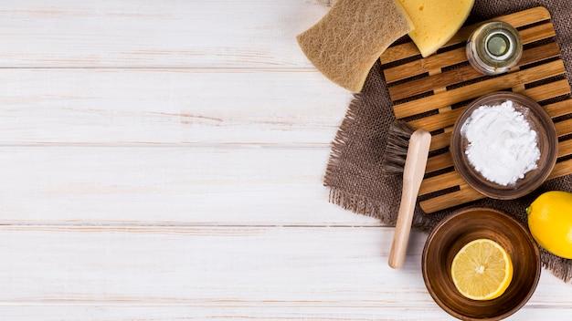 Эко чистящие средства для дома лимон и соль Бесплатные Фотографии