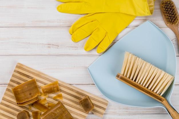 Домашние эко чистящие средства, мыло и продукты Бесплатные Фотографии