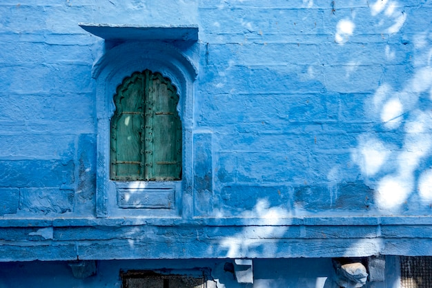 House exterior in blue city, jodhpur india Free Photo