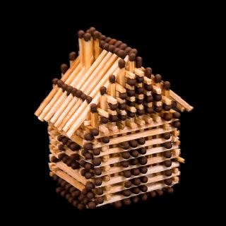 House from matches Free Photo