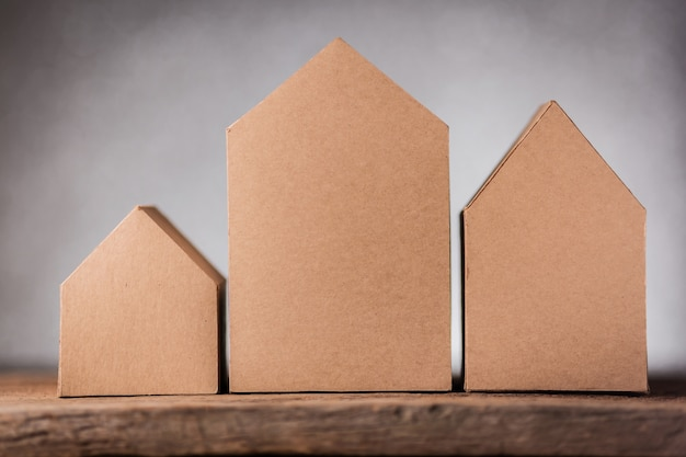 House Ideas Concept With House Shape Papercut With Blur