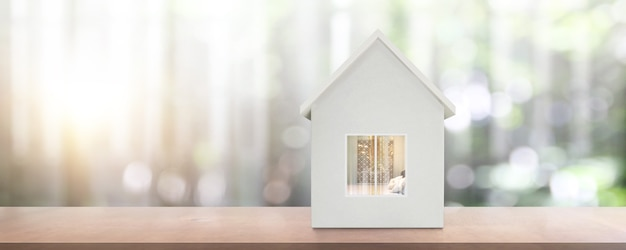 House model there space. home, housing  real estate concept Premium Photo