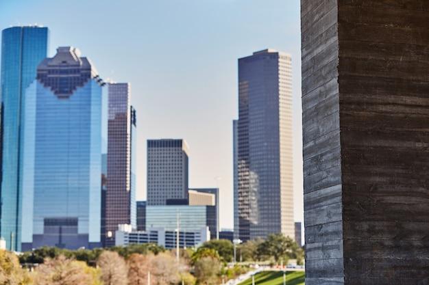 Houston city skyline from west texas us Premium Photo