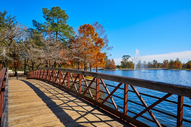Houston hermann park mcgovern lake Premium Photo