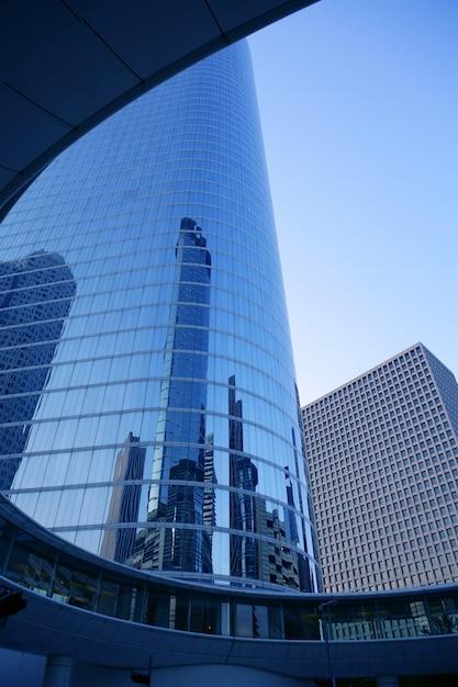 Houston texas blue buildings skyscraper city Premium Photo