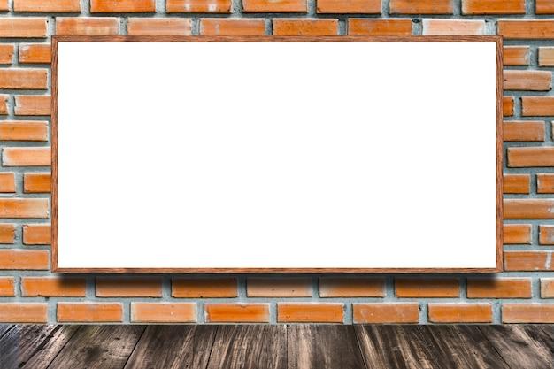 벽돌 벽에 거 대 한 포스터 광고 빌보드 프리미엄 사진