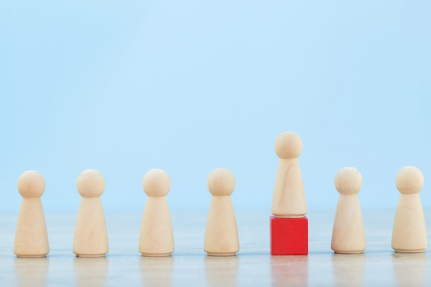 Human resource management, finding business people and business team with business leader concepts-image. Premium Photo