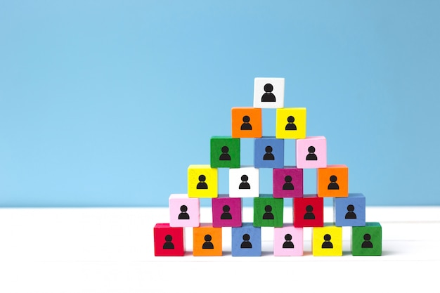 Human resources (hr) and corporate hierarchy concept. choose a new leader of teamwork. Premium Photo