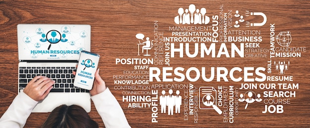 Human resources and people networking concept Premium Photo