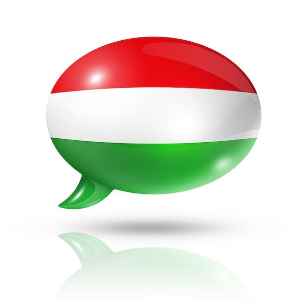 Hungarian flag speech bubble Premium Photo