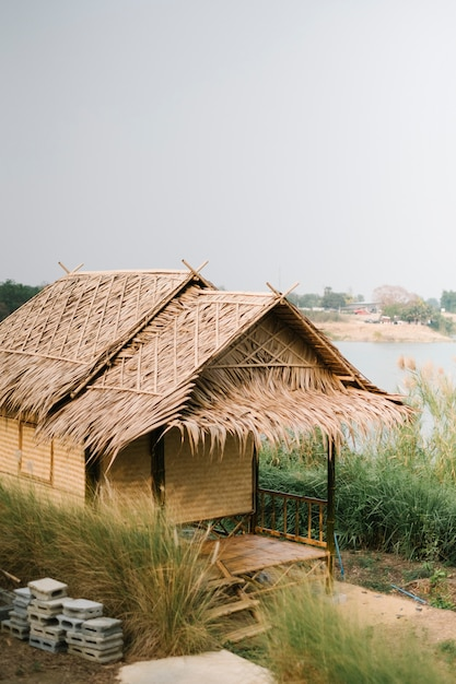 Hut for farmer in thai style Free Photo