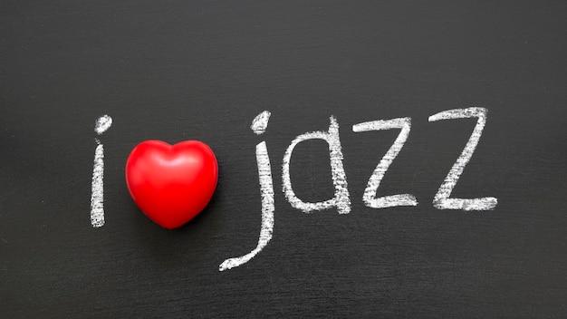 学校の黒板に手書きのジャズフレーズが大好きです Premium写真