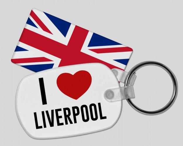 40746a87630 I love liverpool keyring - vacation and holiday Premium Photo